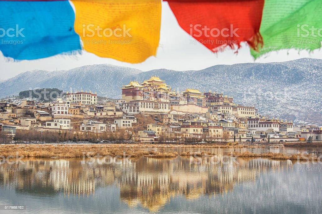 Songzanlin Temple at shangri la stock photo