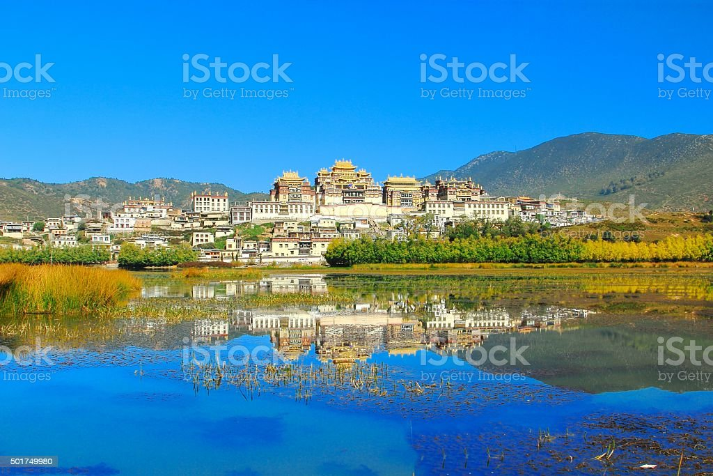 Songzanlin Temple  in Zhongdian city ( Shangri-La), Yunnan  China stock photo