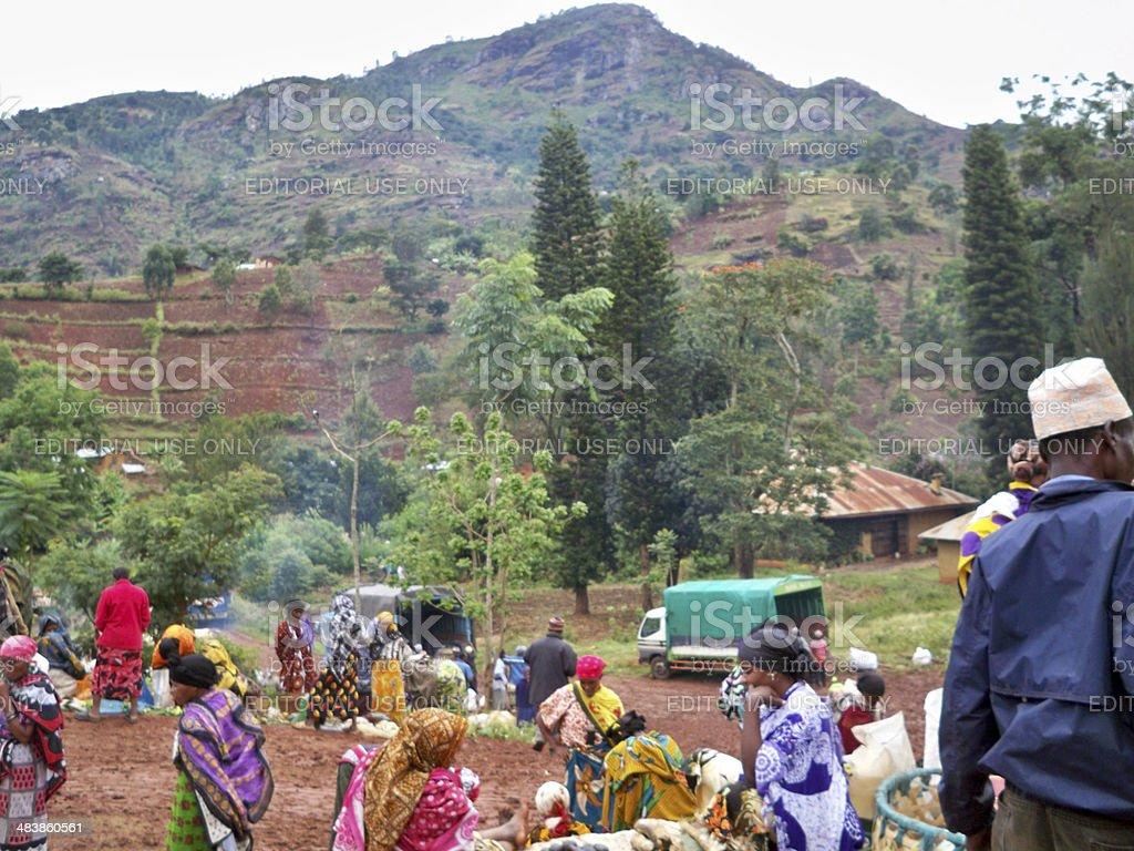 Soni Village Market, Tanzania royalty-free stock photo