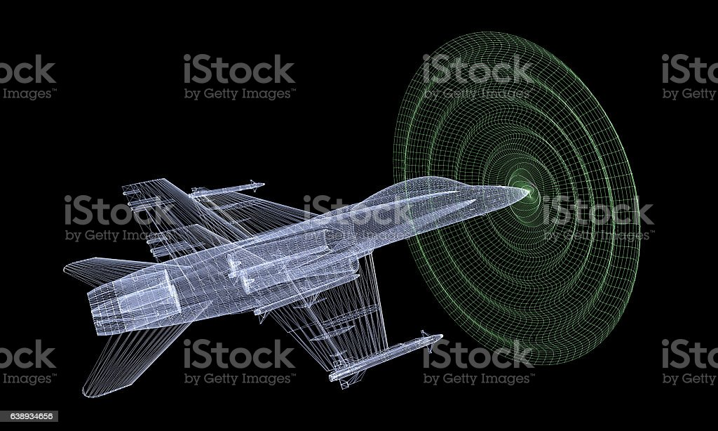Sonic Waves and Fast Jet stock photo