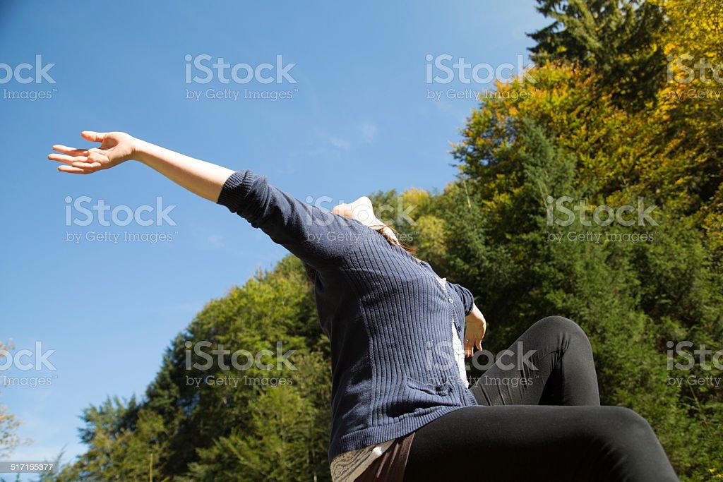 Sonne genie?en stock photo