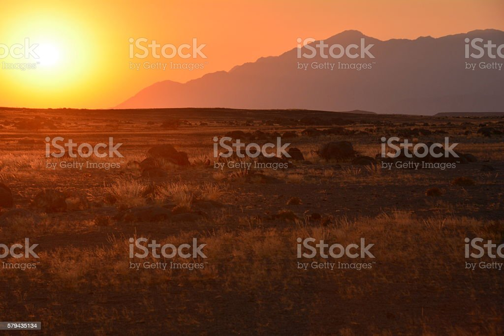 Sonnenaufgang am Brandberg stock photo