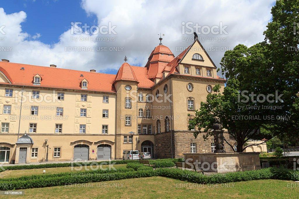 Sonnenstein Castle in Pirna, Saxon Switzerland stock photo