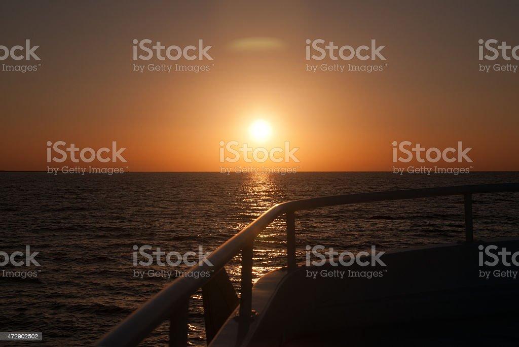 Sonnenuntergang Ägypten foto royalty-free