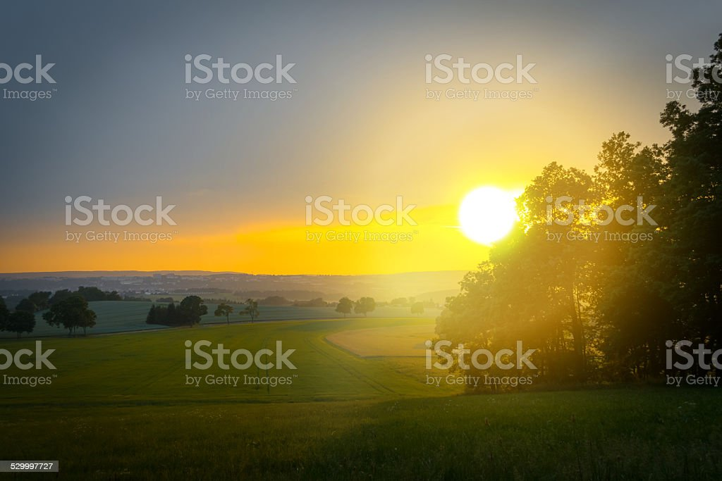 Sonnenuntergang im Sommer stock photo