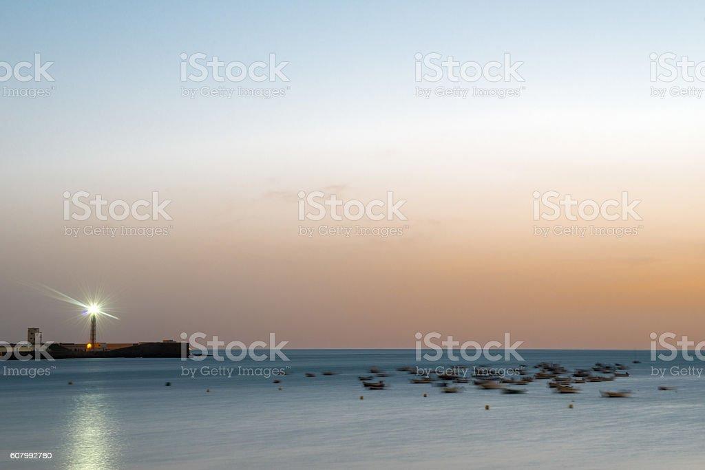 Sonnenuntergang in Cadiz stock photo