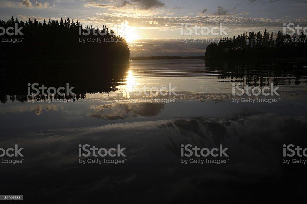 Sonnenuntergang royalty-free stock photo