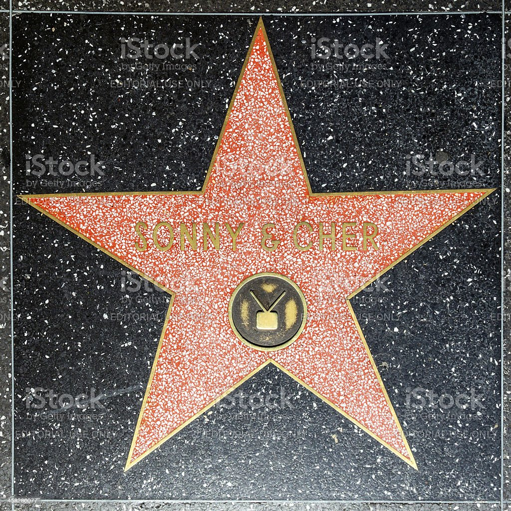 Sonny & Chers star on Hollywood Walk of Fame royalty-free stock photo