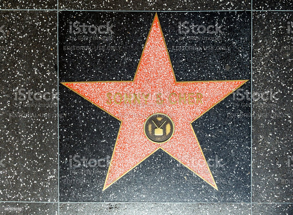 Sonny & Chers star on Hollywood Walk of Fame stock photo