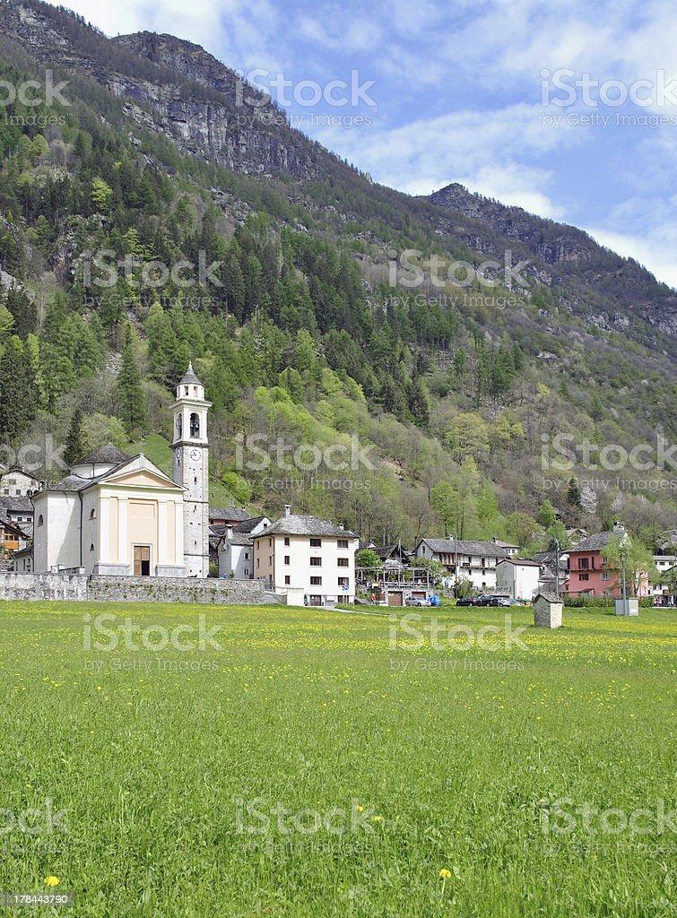 Sonogno,Verzasca Valley,Switzerland royalty-free stock photo