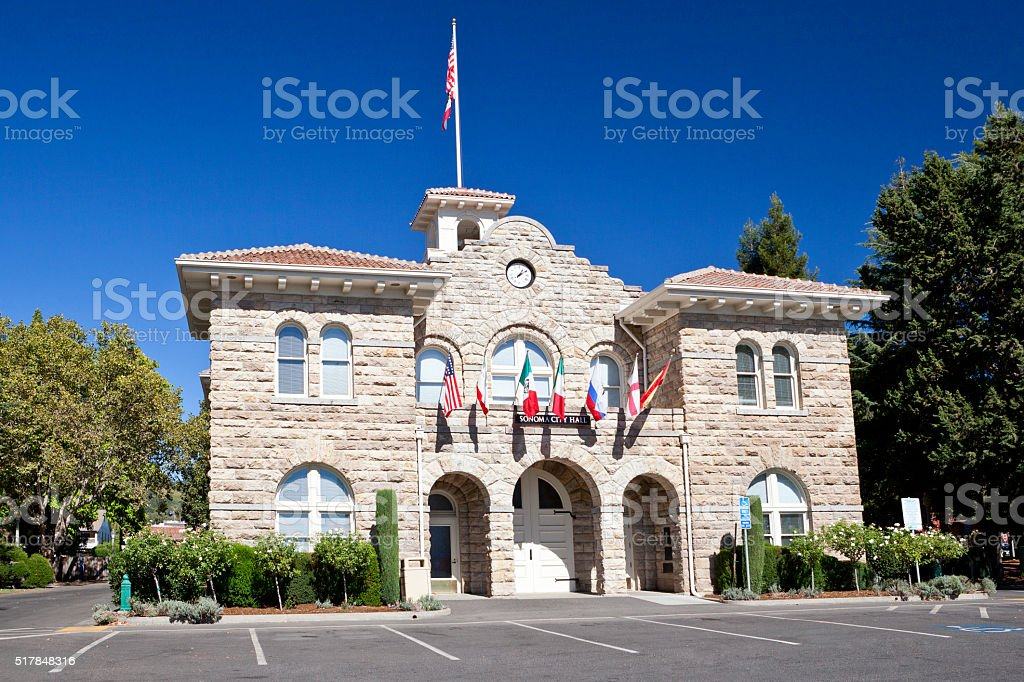 Sonoma City Hall stock photo