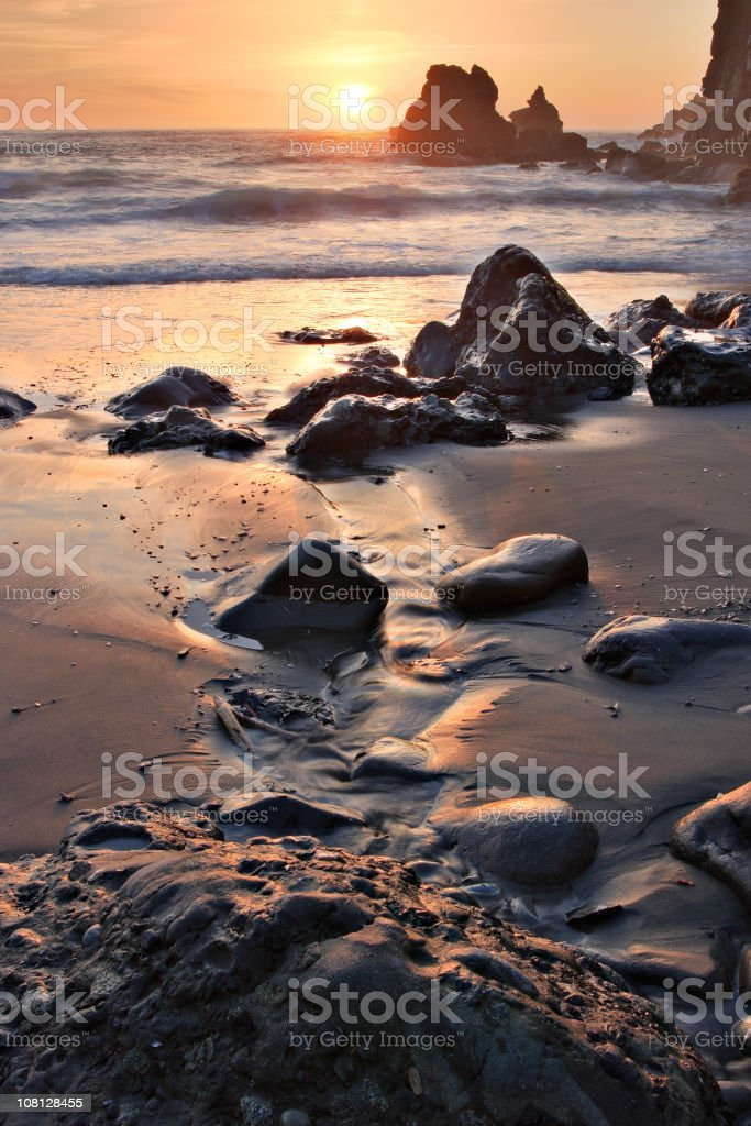 Sonoma coast at sunset royalty-free stock photo