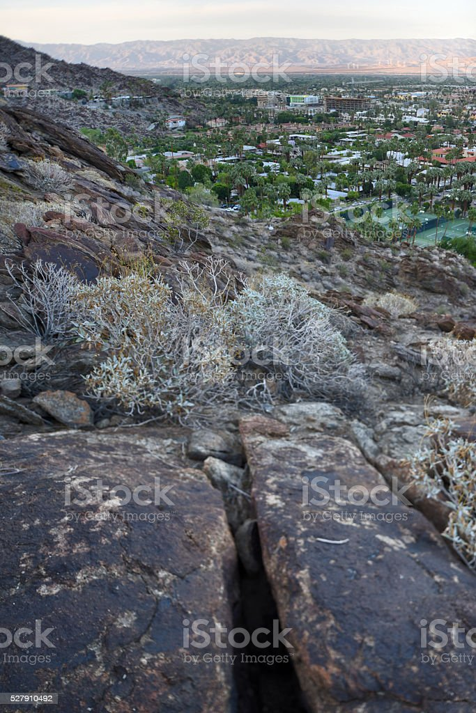 Sonoran Desert Hills above Palm Springs stock photo