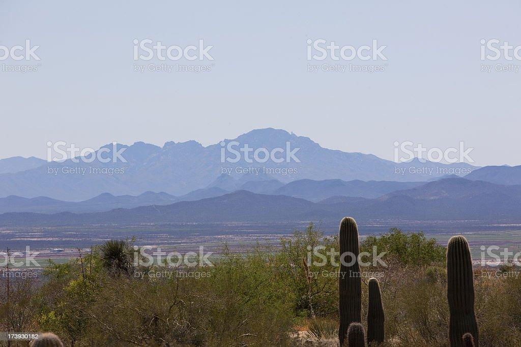 Sonoran Desert Mountains near Tucson Arizona royalty-free stock photo