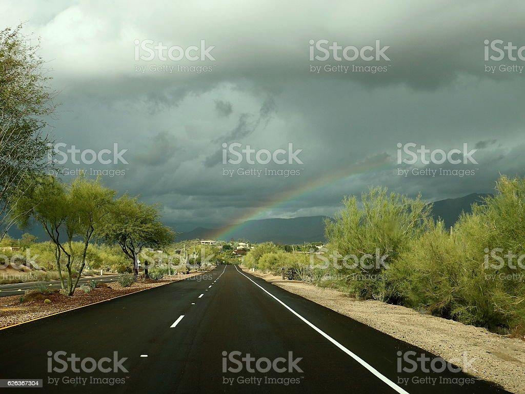 Sonoran Desert Rainbow stock photo