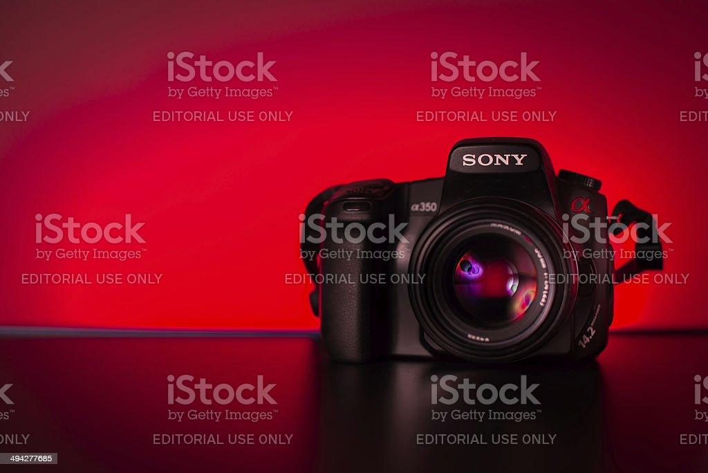 Sony a350 Camera With Minolta Lens stock photo