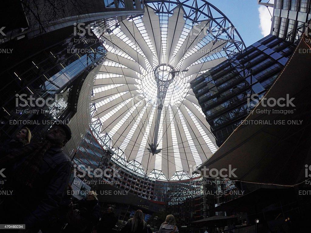 Sony center at Potsdamer Platz in Berlin Mitte, GoPro image stock photo