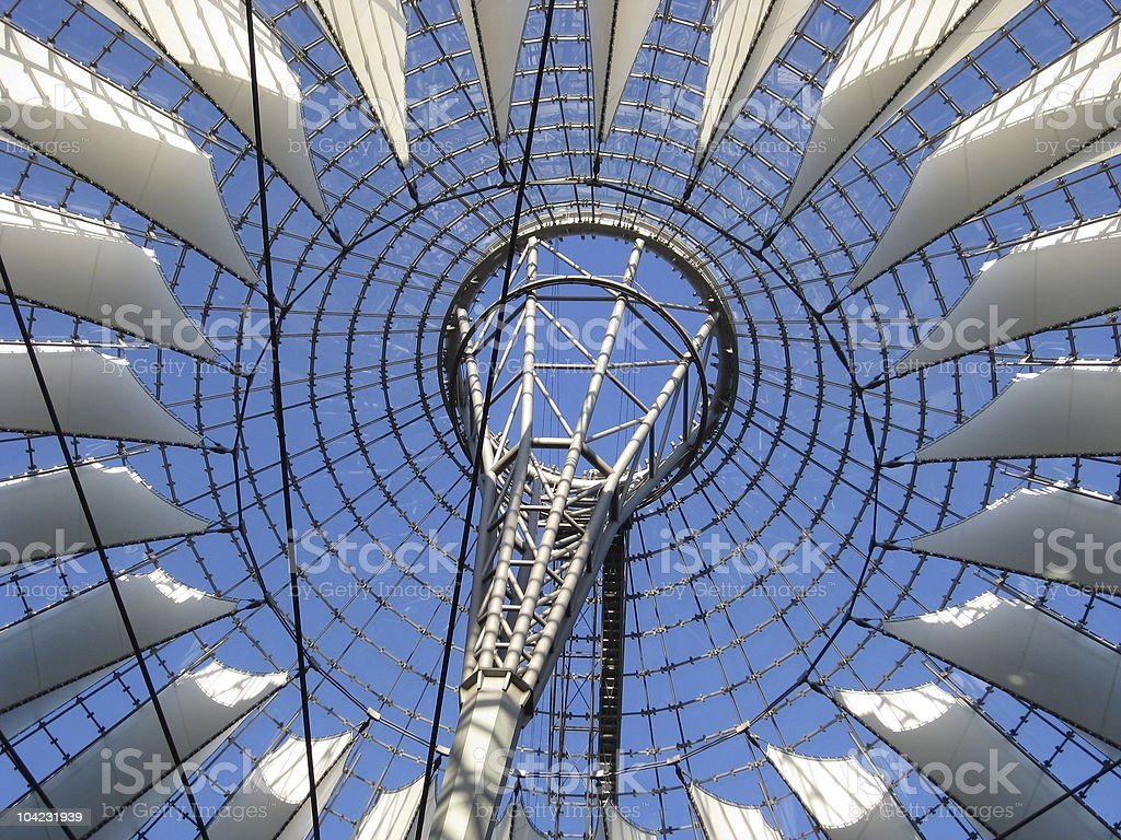 Sony Center roof detail royalty-free stock photo