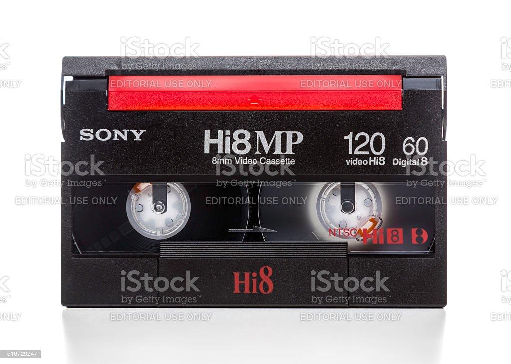 Sony Hi8 MP 120 cassette stock photo