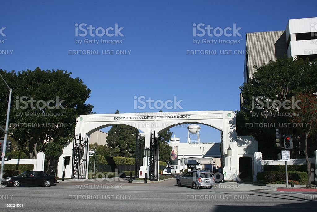 Sony Pictures Studios Overland / West Gate, Culver City, Los Angeles stock photo