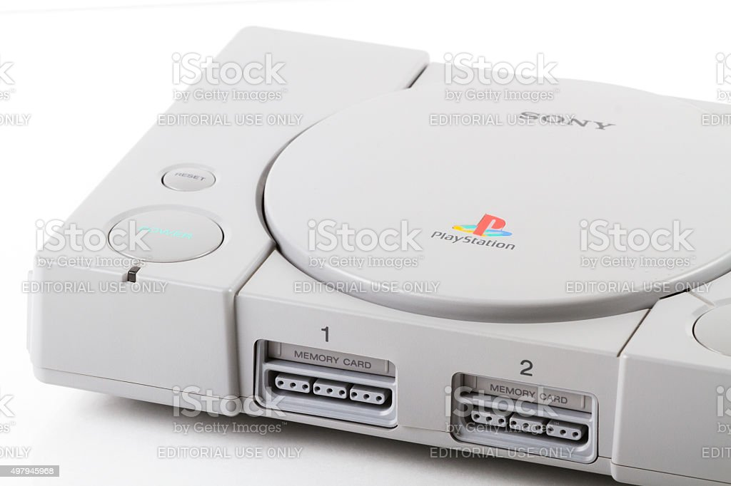 Sony PlayStation 2 Video Game Console stock photo