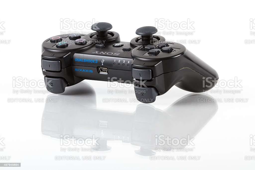 Sony PlayStation 3 DualShock Wireless Video Game Controller stock photo