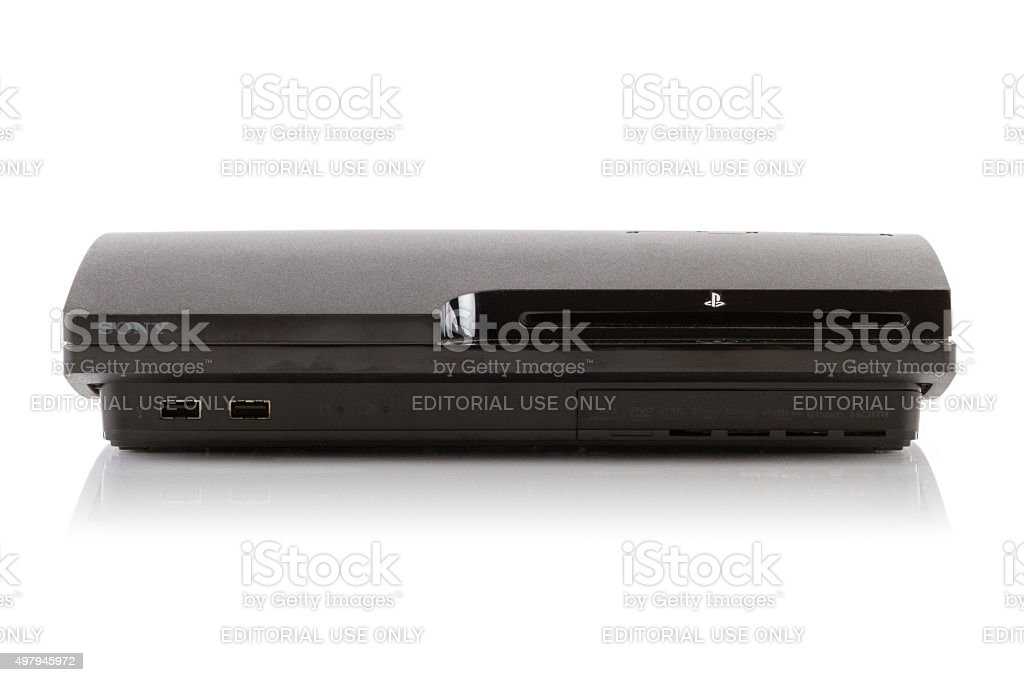 Sony PlayStation 3 Video Game Console stock photo