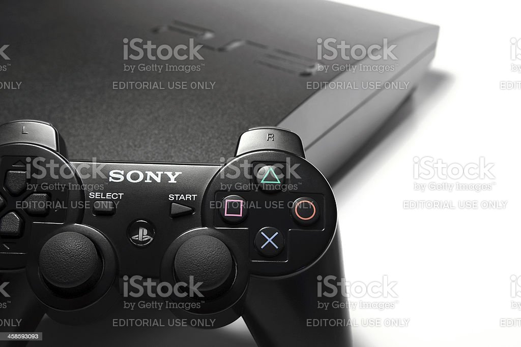 Sony Playstation 3 with controller royalty-free stock photo