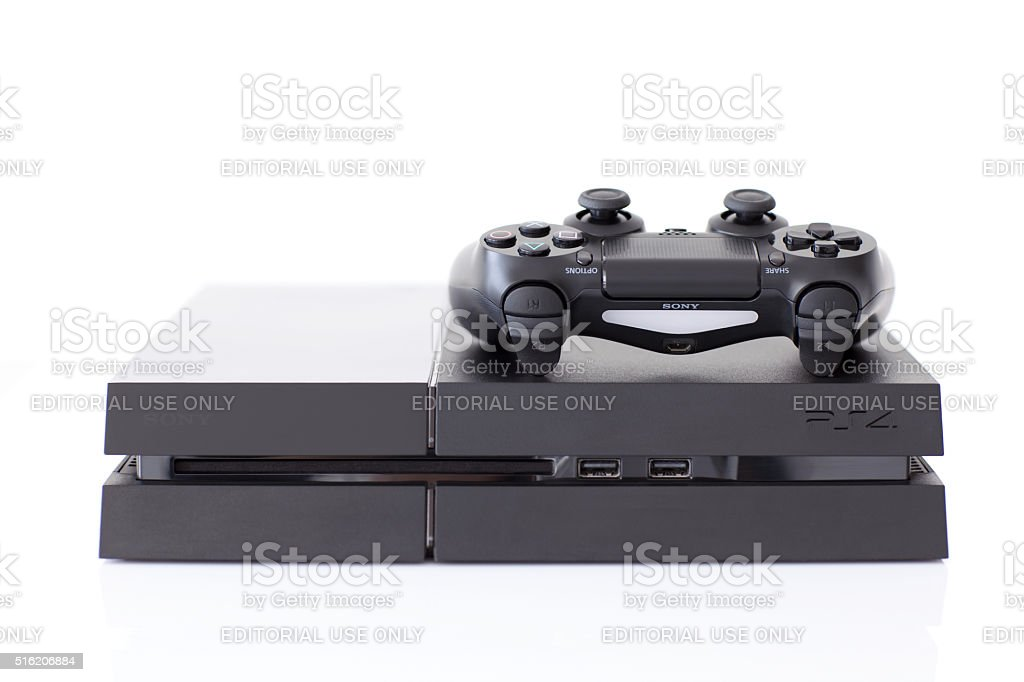 Sony PlayStation 4 game console of the eighth generation stock photo