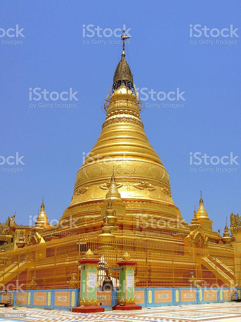 Soon Oo Ponya Shin Pagoda , Sagaing, Mandalay , Myanmar stock photo