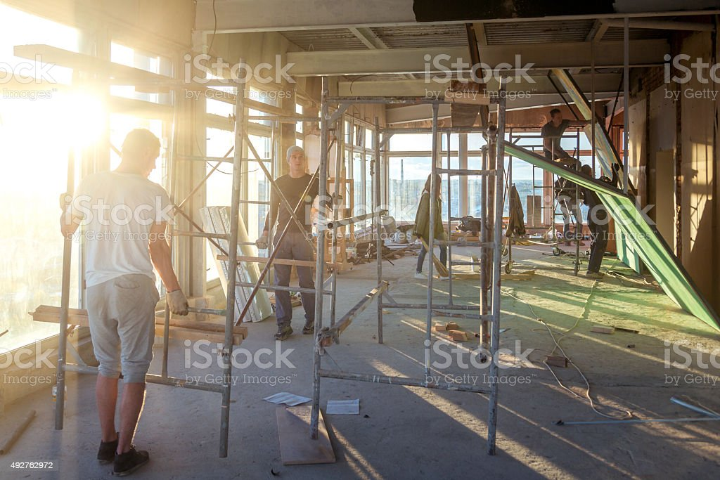 Сonstruction works stock photo