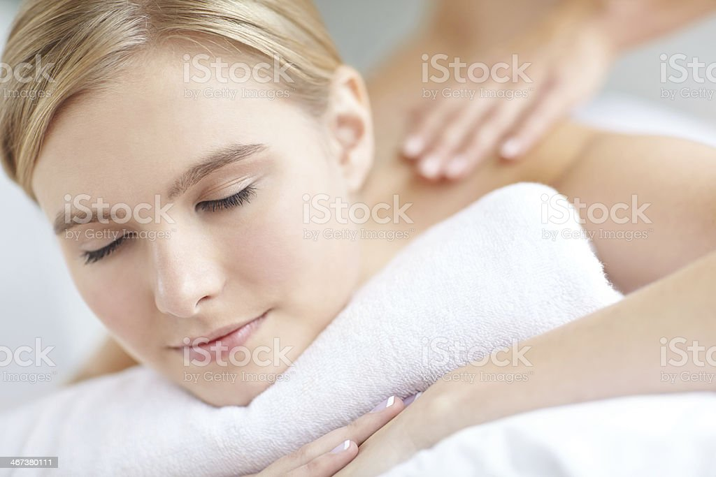 Soothed and pampered royalty-free stock photo