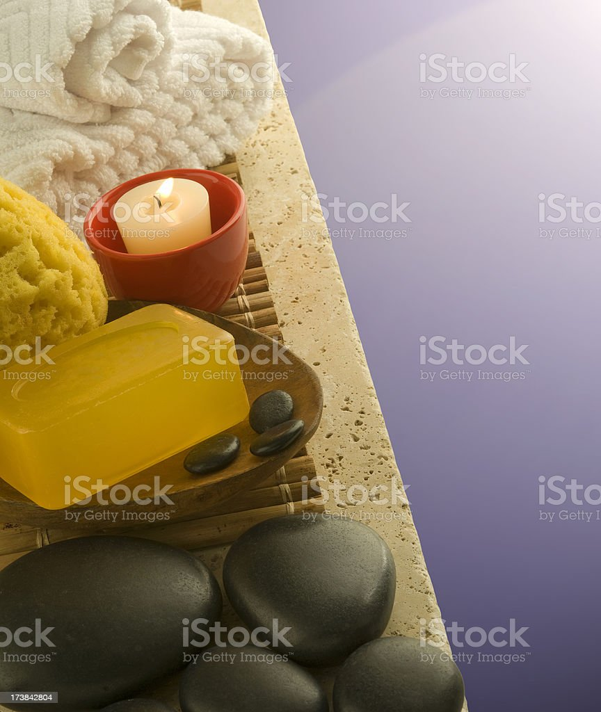 Soothing Bath stock photo