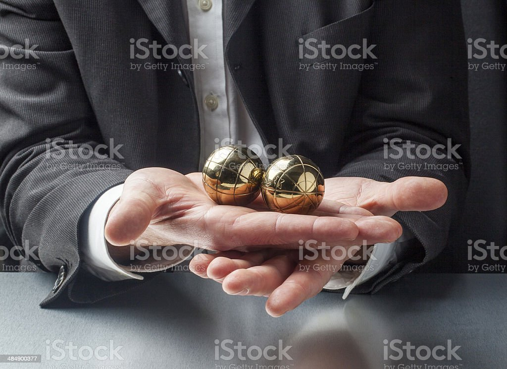 soothing exercise for zen business royalty-free stock photo