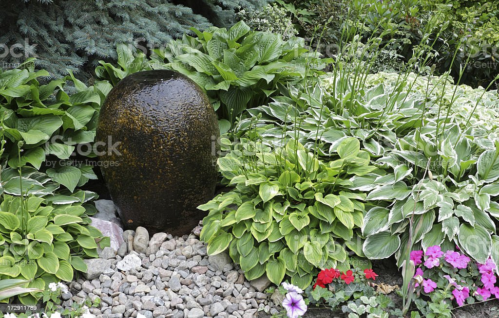 Soothing Garden Design royalty-free stock photo