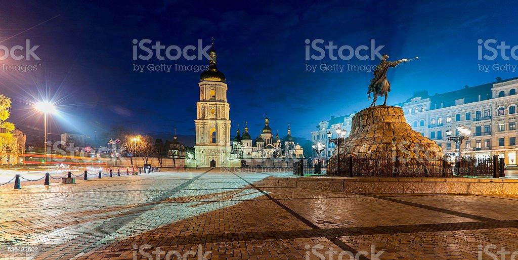 Sophia square in Kyiv stock photo