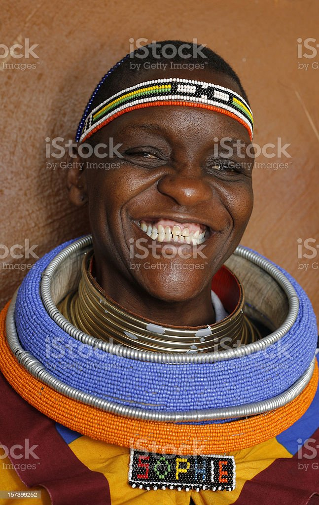 Sophie the Ndebele woman stock photo