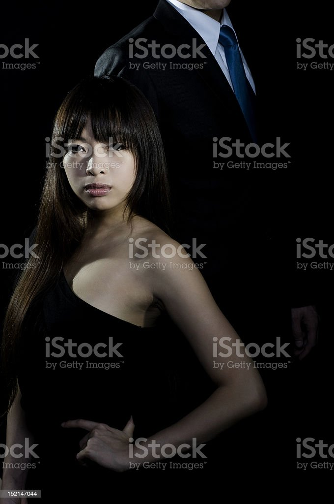Sophisticated asian woman royalty-free stock photo