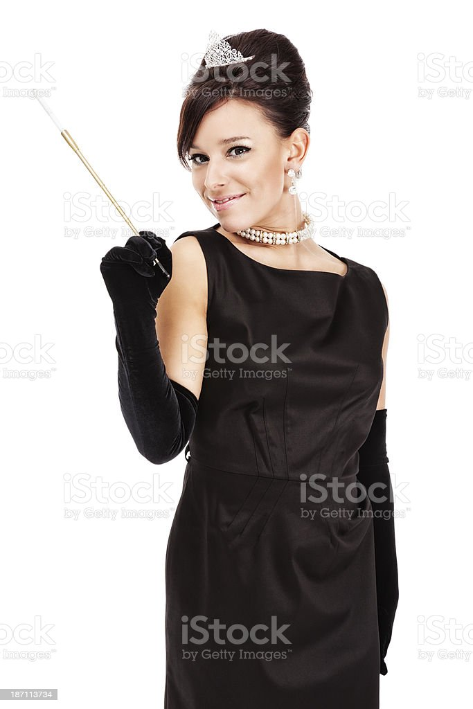 Sophisticated Lady on White royalty-free stock photo