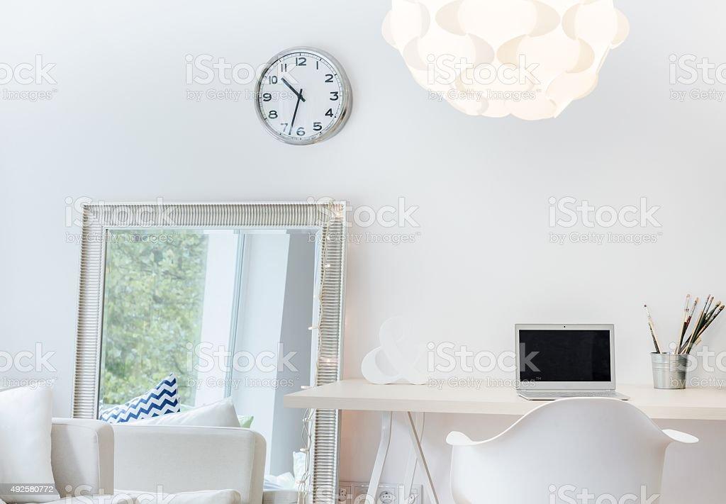 Sophisticated light studio stock photo