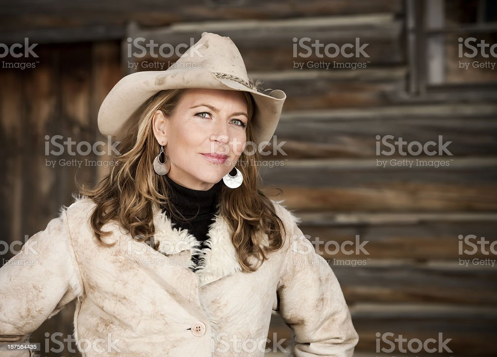Sophisticated Modern Cowgirl Portrait stock photo