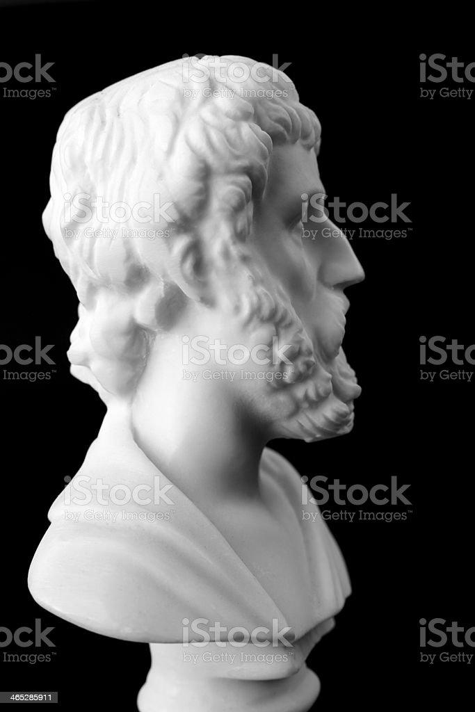 Sophocles was a Greek tragic poet stock photo