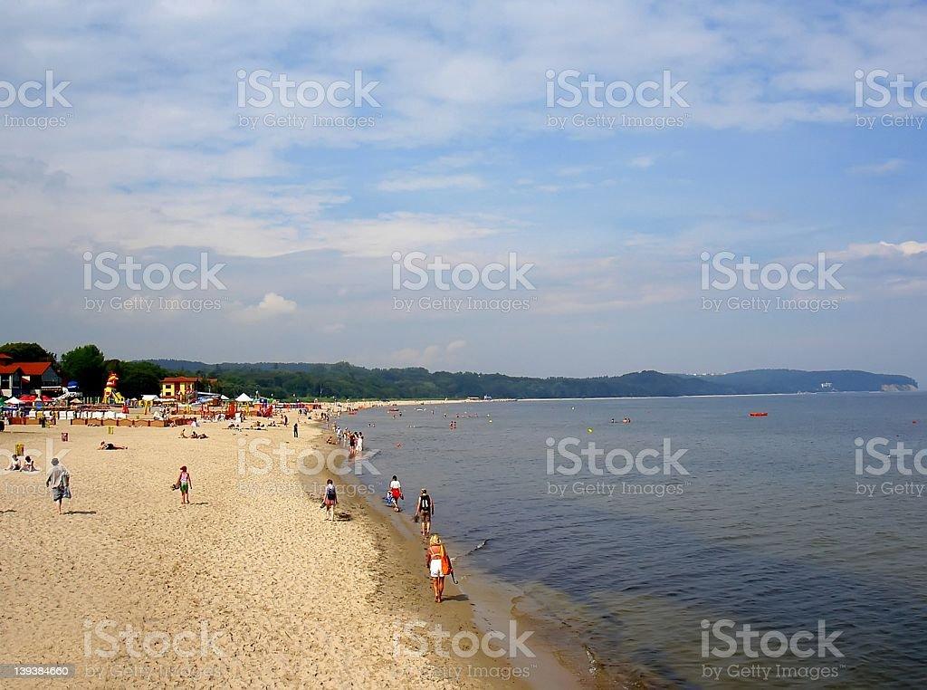 sopot beach royalty-free stock photo