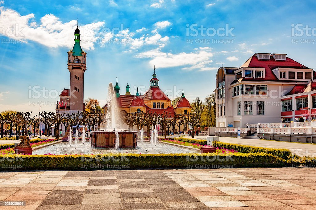 Sopot in sunshine stock photo