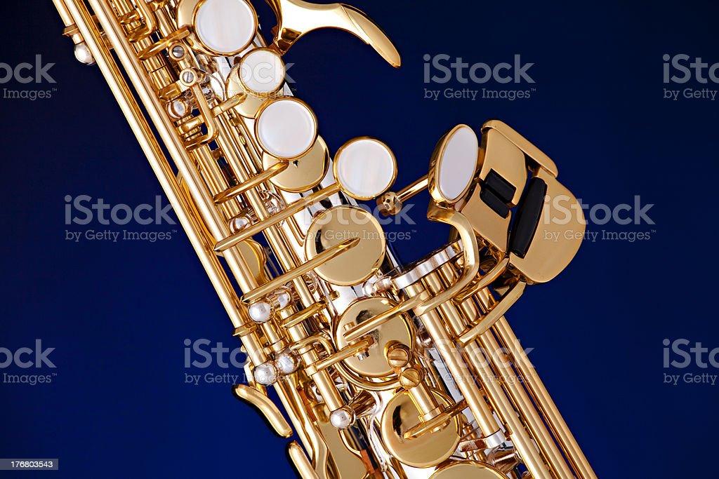 Soprano Saxophone Isolated on Black stock photo