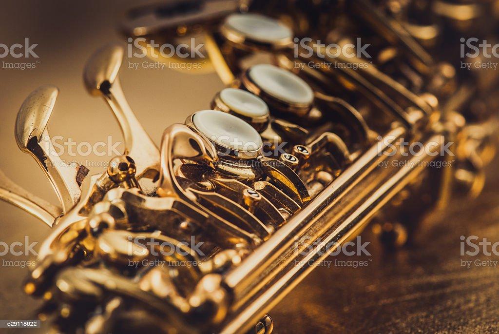 Soprano Saxophone stock photo