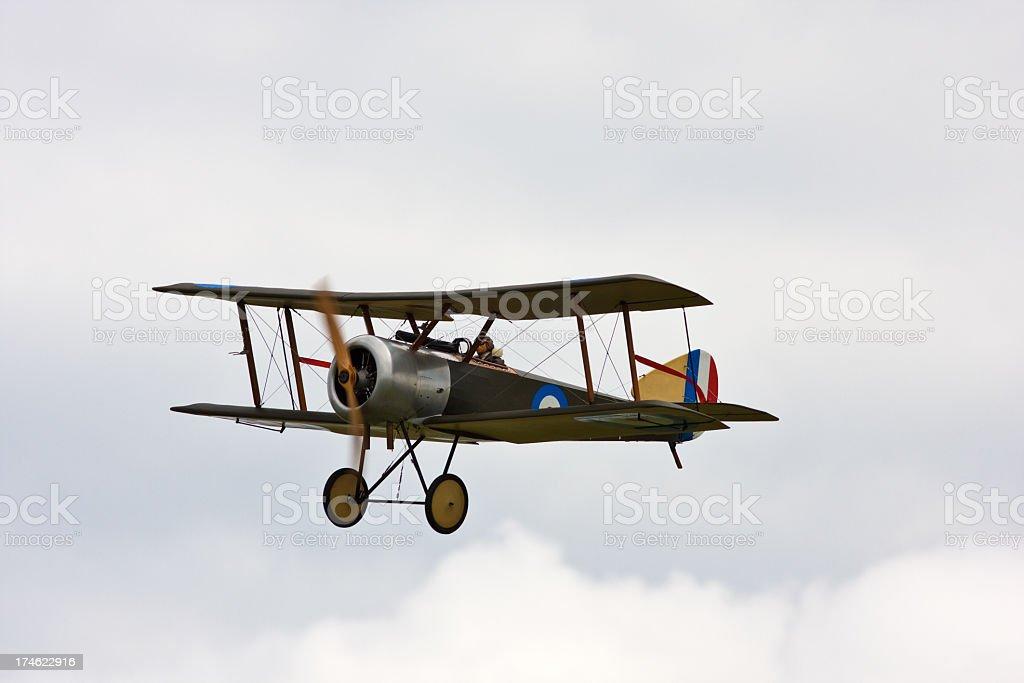Sopwith Snipe British biplane fighter aircraft royalty-free stock photo