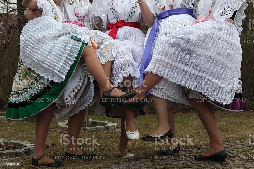 Sorbian Carnival in Lower Lusatia, Germany. stock photo