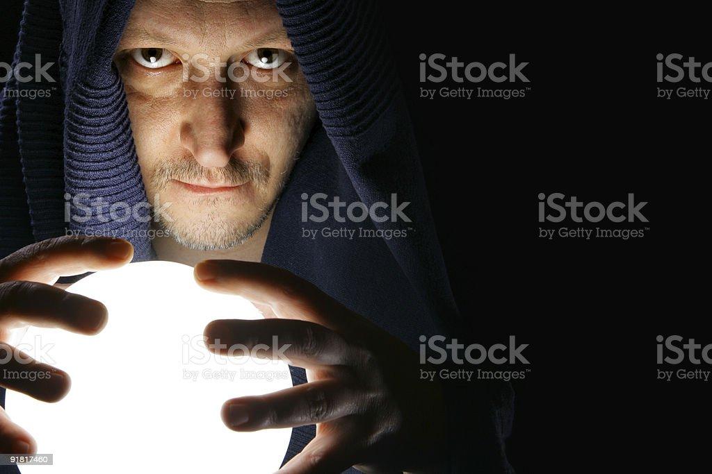 Sorcerer stock photo