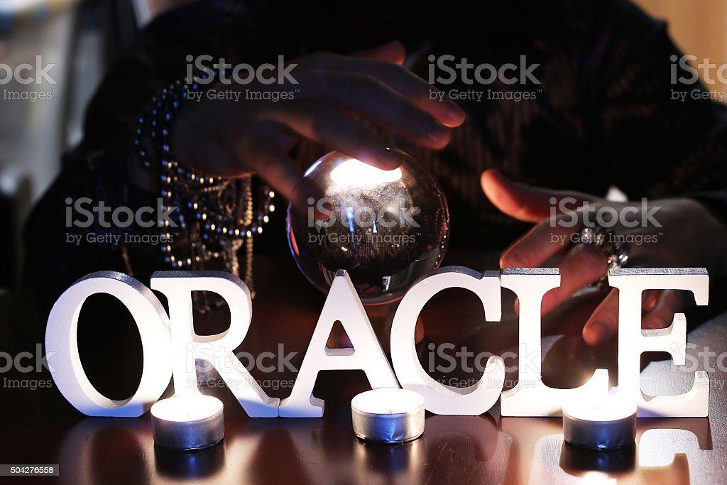 Sorcerer predicts the future stock photo